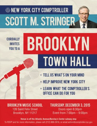 Scott Stringer Brooklyn Town Hall