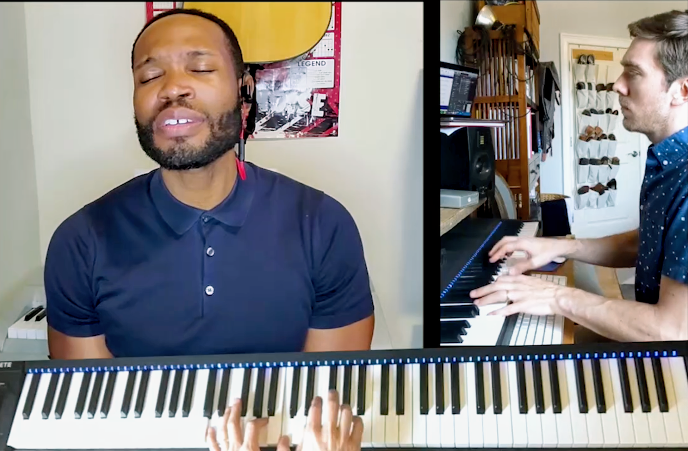 David Murray sings Amazing Grace with Matt Podd on the piano.