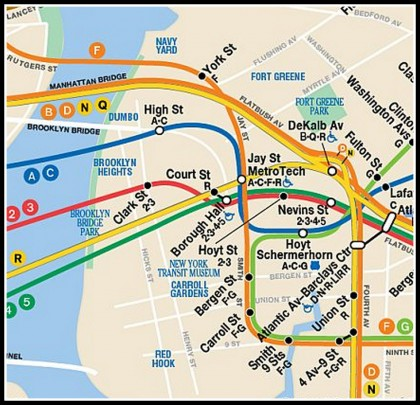 Brooklyn Heights Subway Map.How Do Brooklyn Heights Subway Stations Rank Amid Overall Mta System