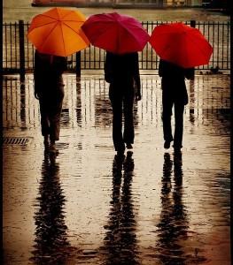 Umbrellas on Brooklyn Heights Promenade