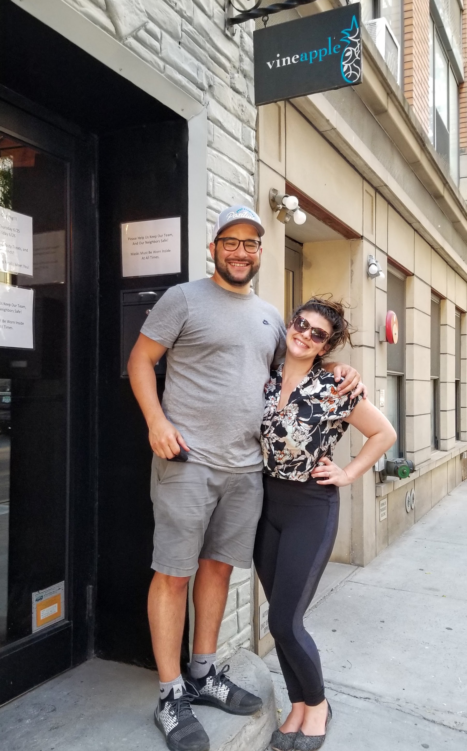 Aubrie Therrien and Zac Rubin, new owners of Vineapple