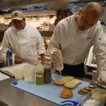 Head chef César Ramirez creates a new sandwich