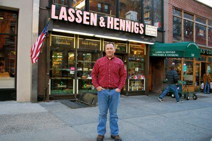Lassen & Hennings owner Chris Calfa stands guard. (BHB/Sarah Portlock)