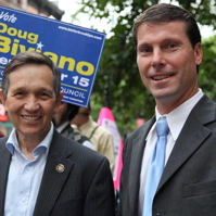 Biviano with Kucinich in 2009