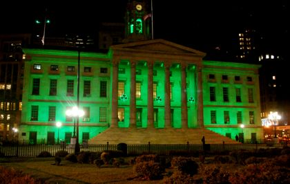 Borough Hall gets in the spirit early (BHB/Sarah Portlock)