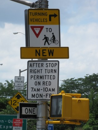New sign on Atlantic Ave./BQE on-ramp