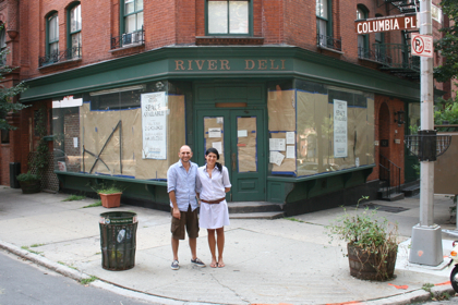 >> Andrea Mocci and Giovanna Fadda plan to open a new Italian restaurant at the old River Deli by October (BHB/Sarah Portlock)