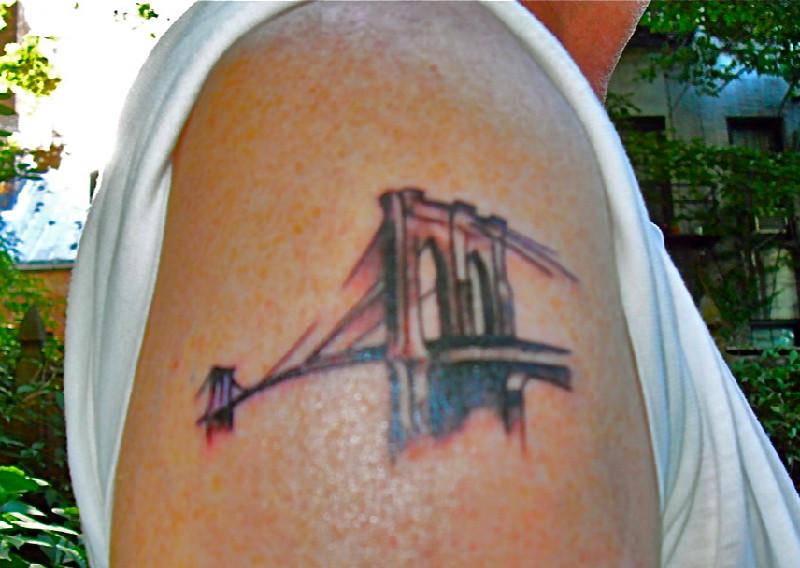Suerte inks nabeguy with brooklyn bridge tattoo brooklyn for Club ink tattoo brooklyn